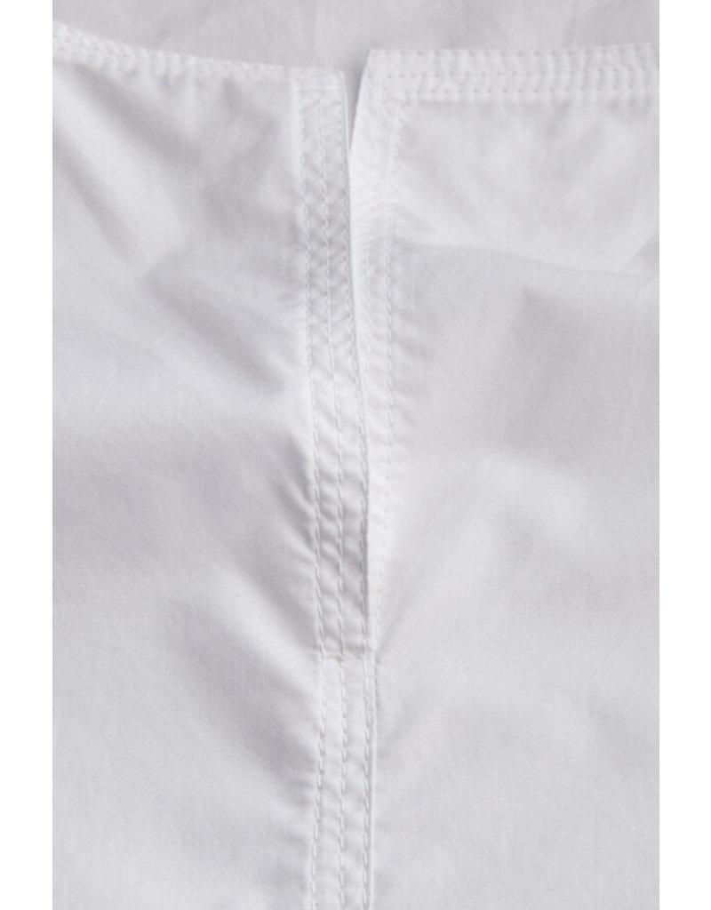 Zenggi Cotton Split Front Top White