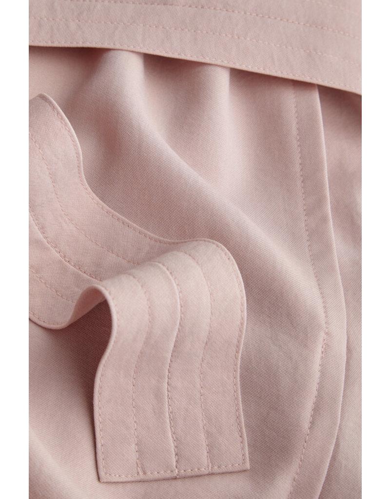 Zenggi Japanese Crepe Loose Dress Faded Rose
