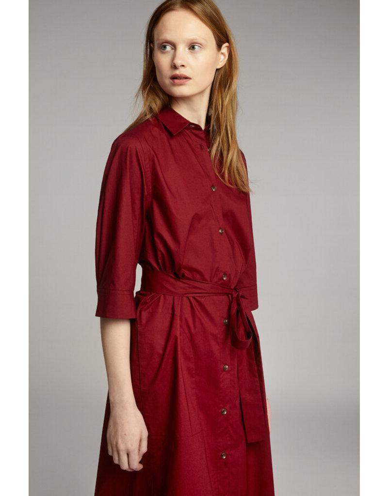 Zenggi Cotton Chemise Dress Cardinale