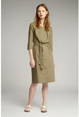 Zenggi Cotton Pleated Dress Khaki