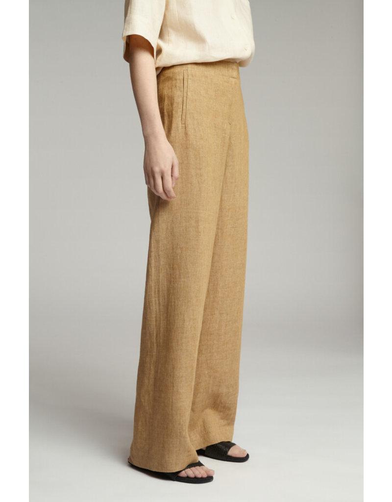 Zenggi Linen Delave Wide Leg Pants Sand
