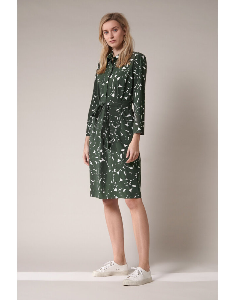 Travel Dress Polo Dress Flower Print Green