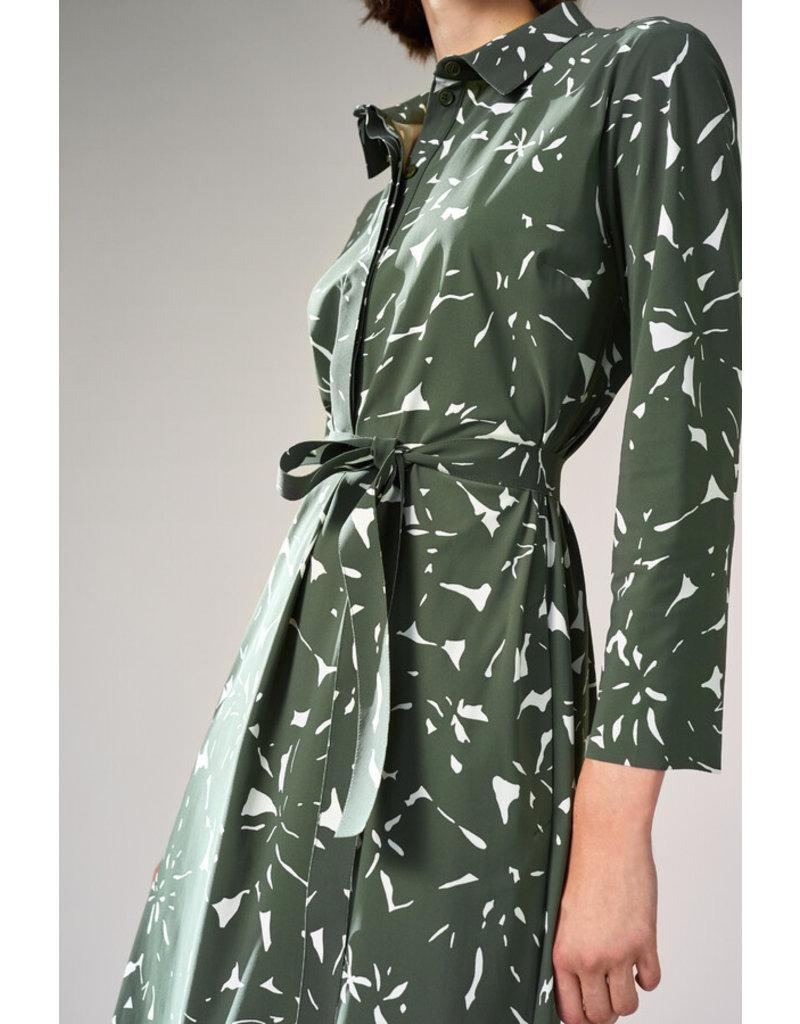 Travel Dress Polo Dress Flower Print Green