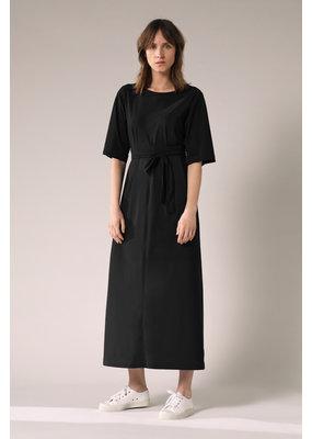 Travel Dress Long Wide Tee Dress Black