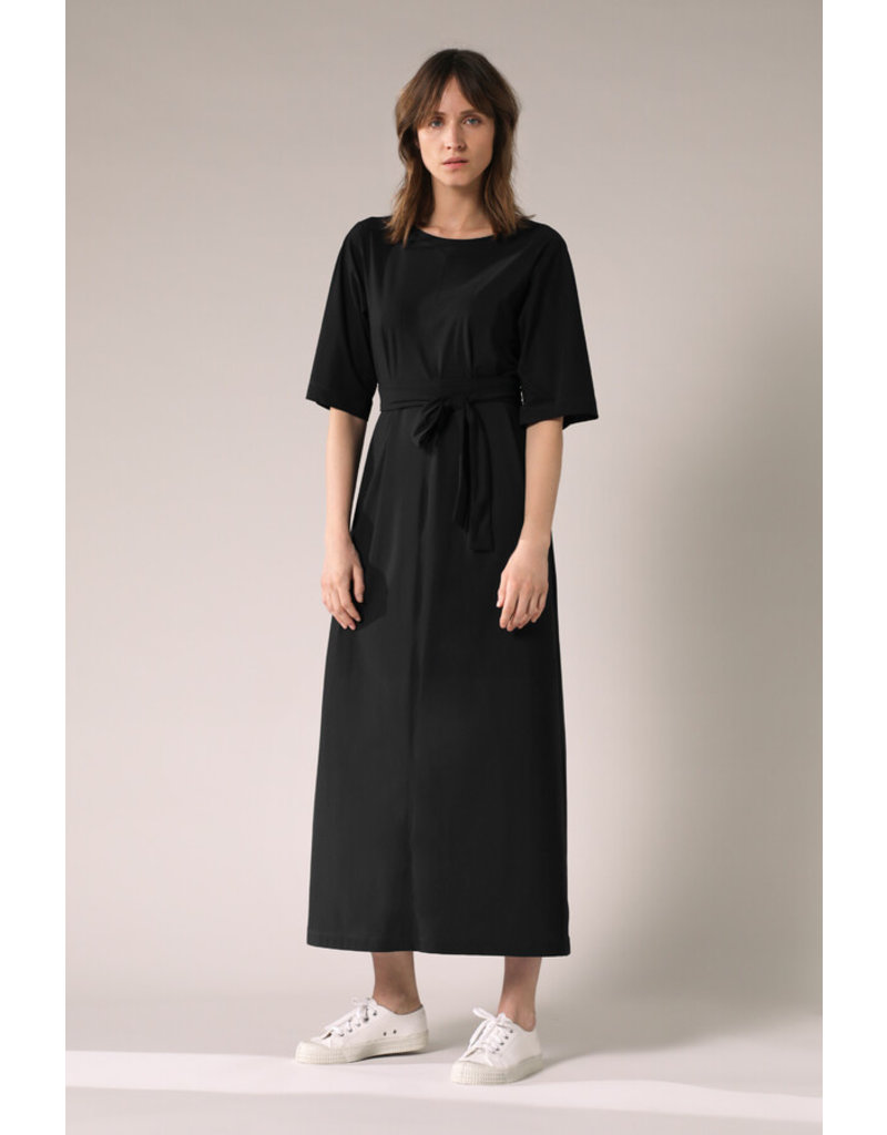 Travel Dress Long Wide Tee Dress Black