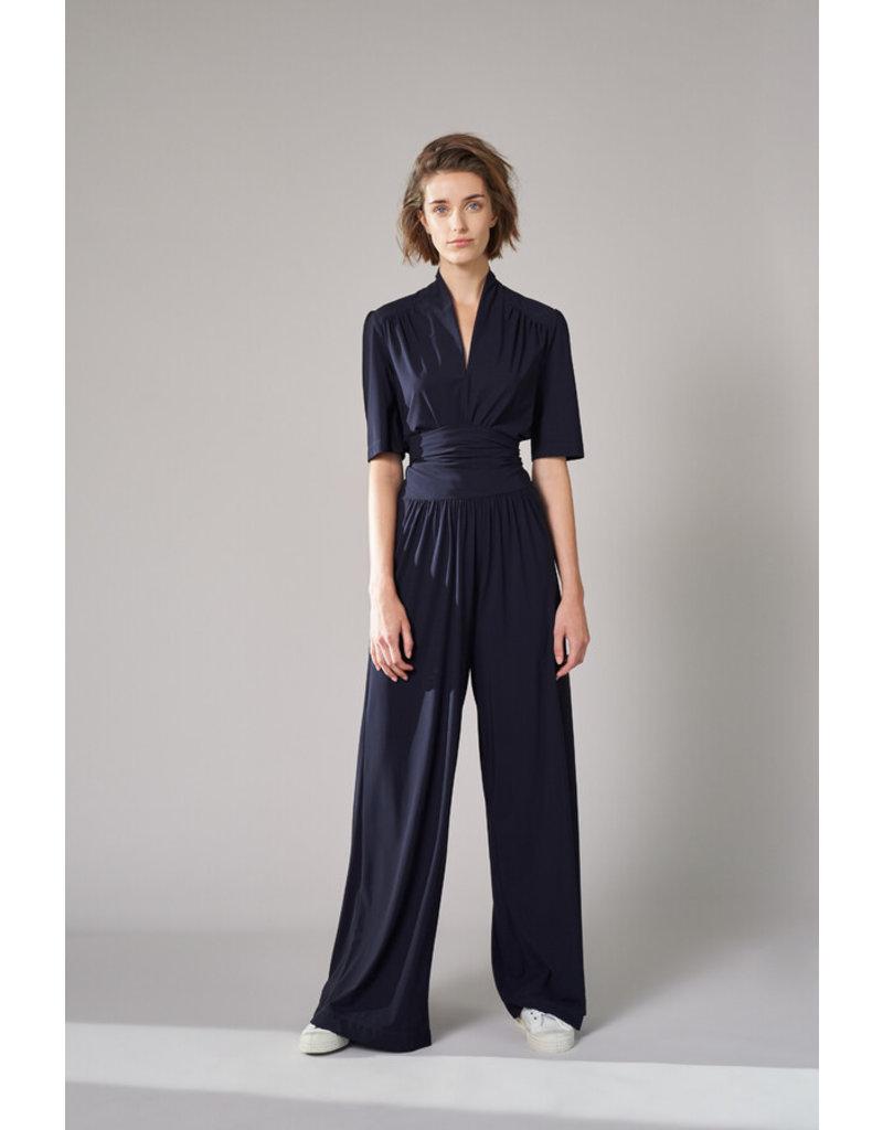 Travel Dress Short Sleeve Top Ink Blue