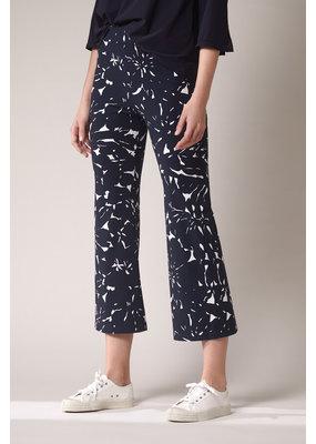 Travel Dress Jazz Pants Flower Print Ink Blue
