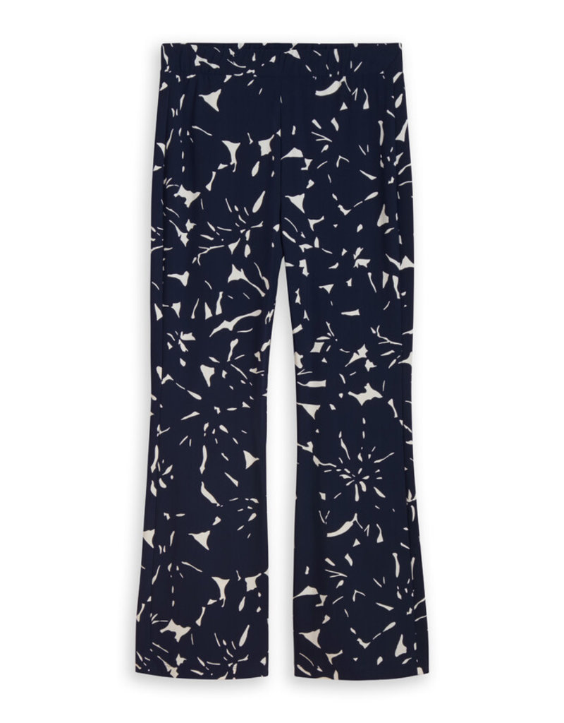 Travel Dress Jazz Pants Flower Print Ink Blue