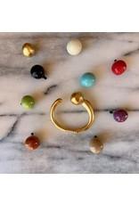 Sentido Armband met 3 verwisselbare bollen goud