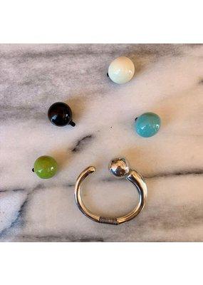Armband met 3 verwisselbare bollen zilver