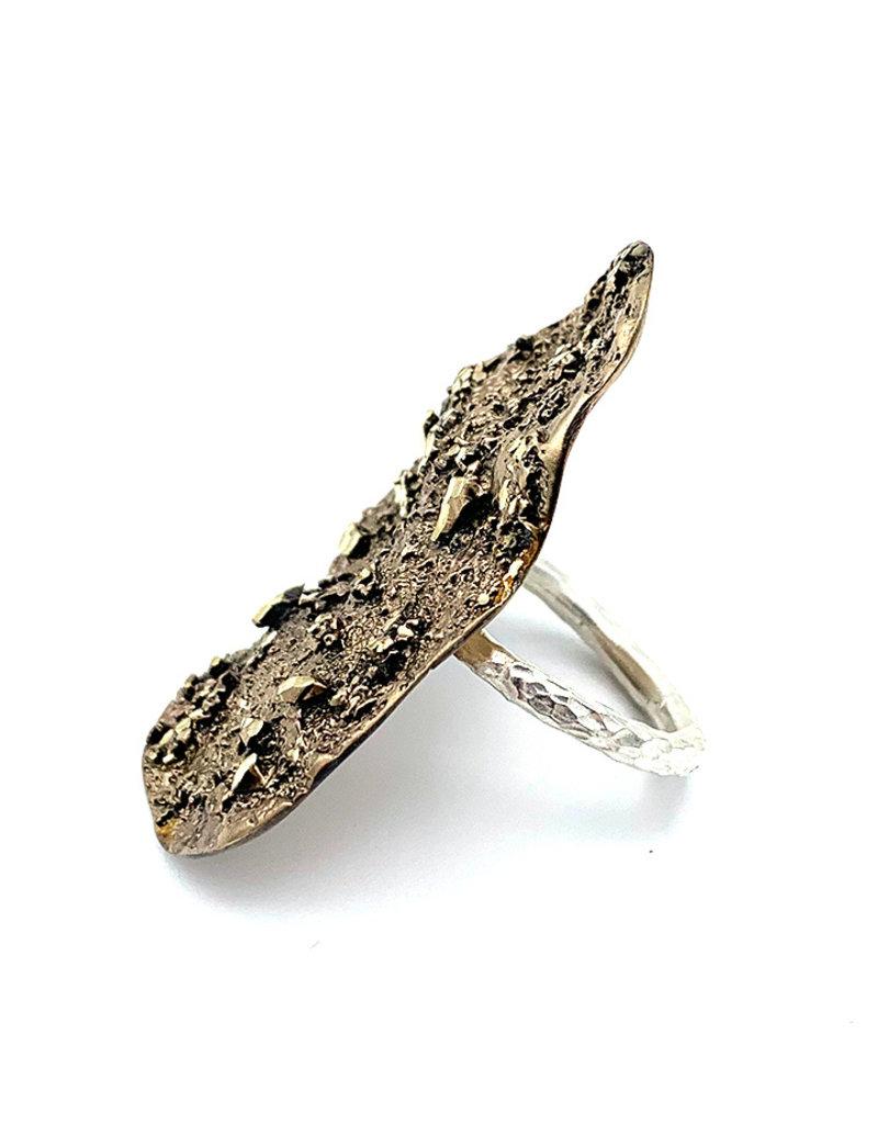 Tina Kotsoni Ring aanpasbaar onregelmatig goud