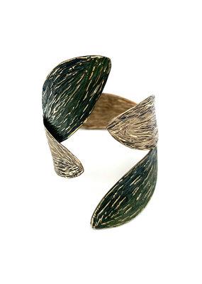 Tina Kotsoni Armband vast blaadjes goud/groen
