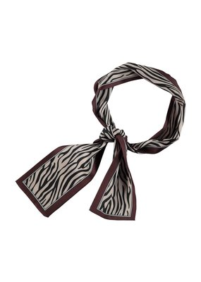 Sjaal langwerpig tijger print