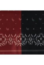 Sjaal langwerpig bruin/blauw