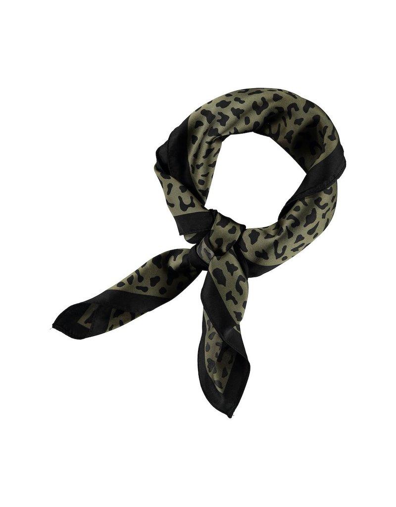 Sjaal vierkant gevlekt groen