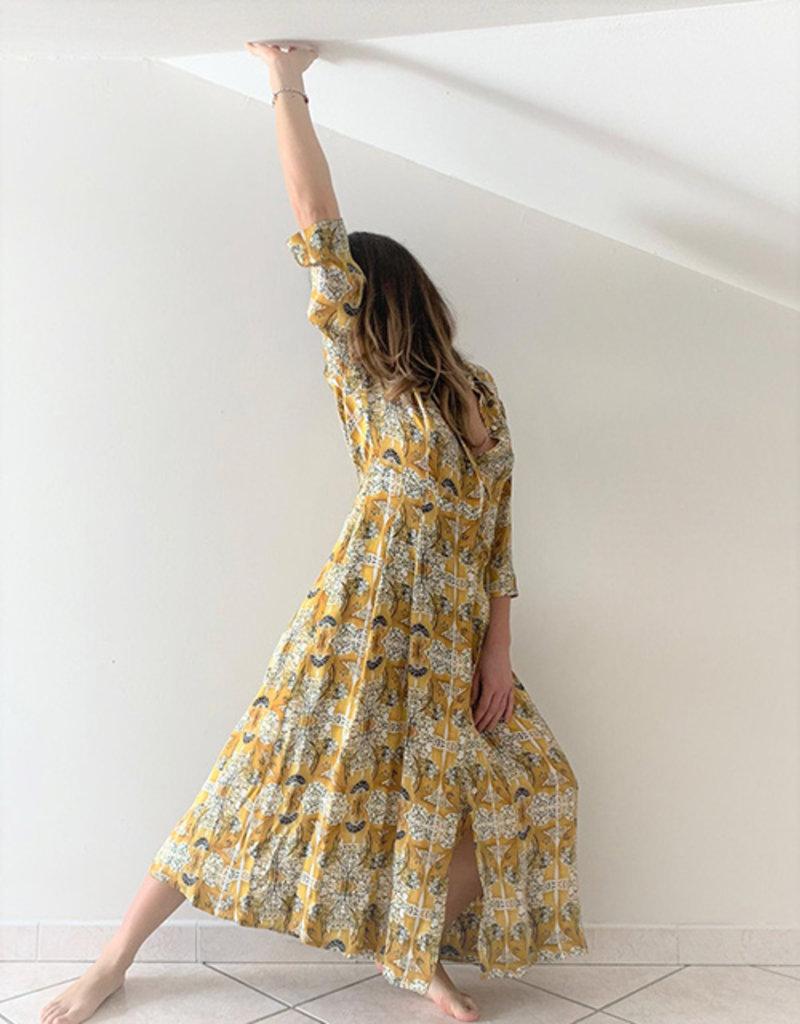 Phisique du role Shirt dress lang geel print