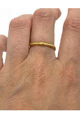 Ring zilver verguld Bamboo