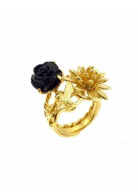 Rebels & Icons Ring Kolibrie goud