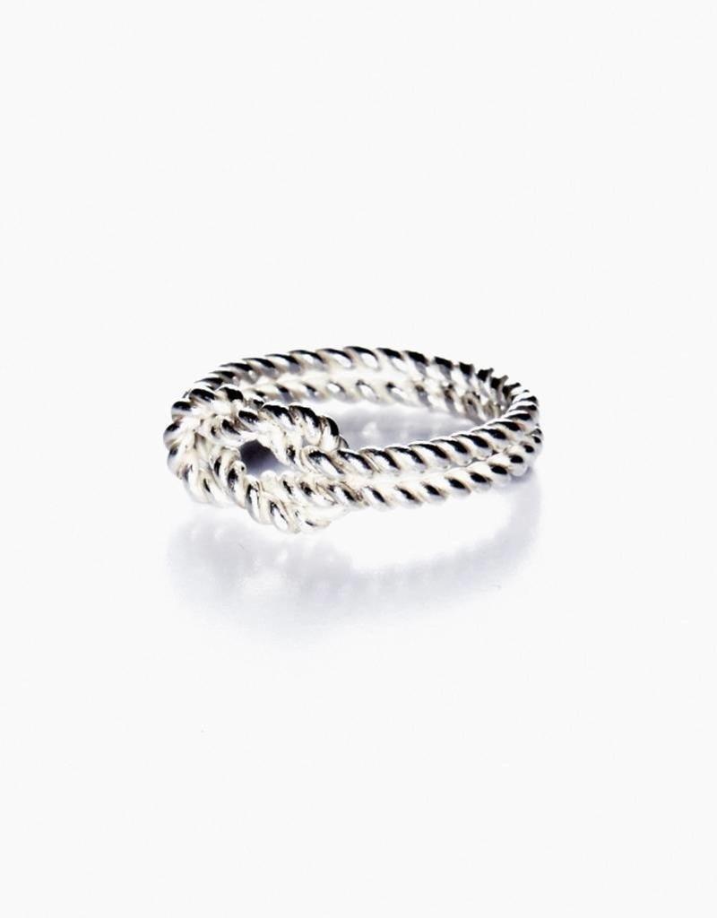 Rebels & Icons Ring knoop zilver