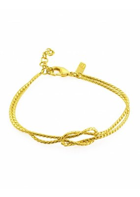 Rebels & Icons Armband knoop goud