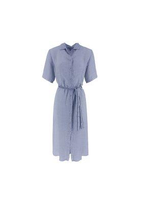 Nukus Dinni Dress Linnen Buttons Baby Blue