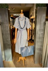 Nukus Dinni Dress Linnen Buttons Baby Blue