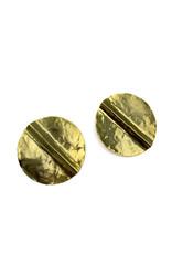 Replica Oorbellen stekers grote cirkels met reliëf goud