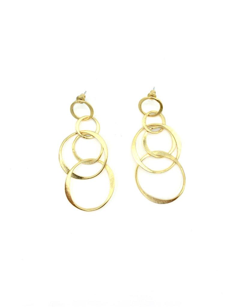 Replica Oorbellen stekers verschillende open cirkels goud