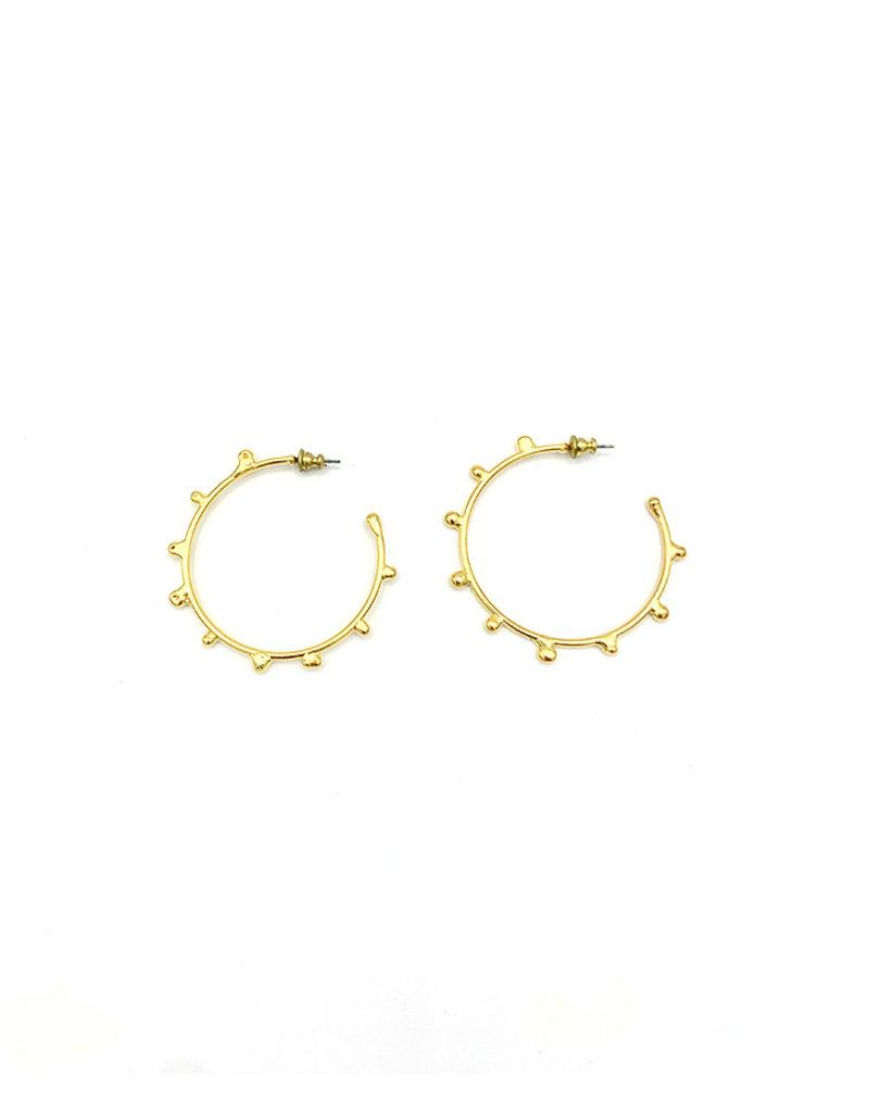 Replica Oorbellen creolen met dots goud