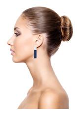Earrings bar blue/white