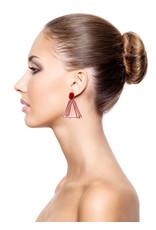 Ann Cox Earrings Butterfly Red