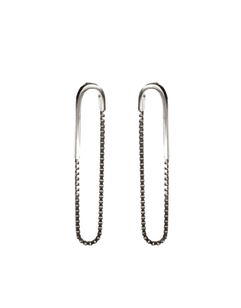 Rebels & Icons Earrings chain and rod silver