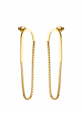 Rebels & Icons Earrings chain and rod gold