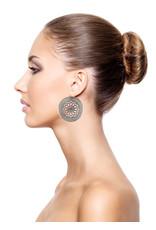 Konplott earring eurowire Shades of Light black size L antique