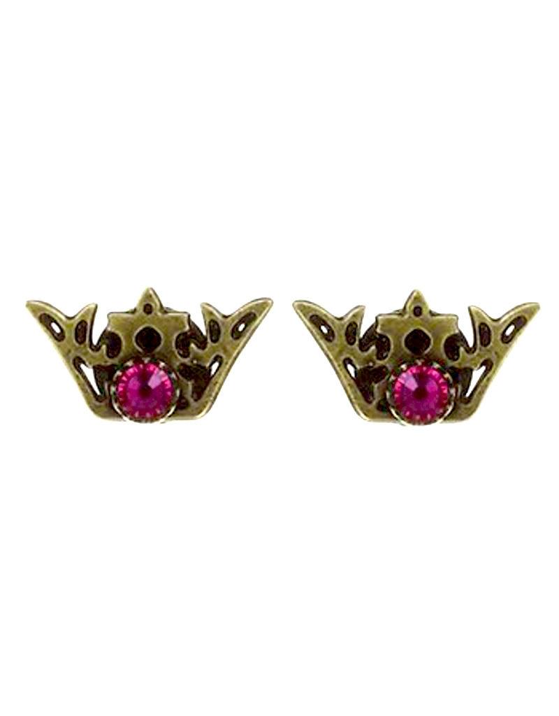 Konplott earring stud The Fox multi size S antique brass