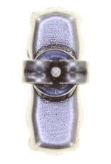 Konplott earring stud Empire States Incas white antique silver