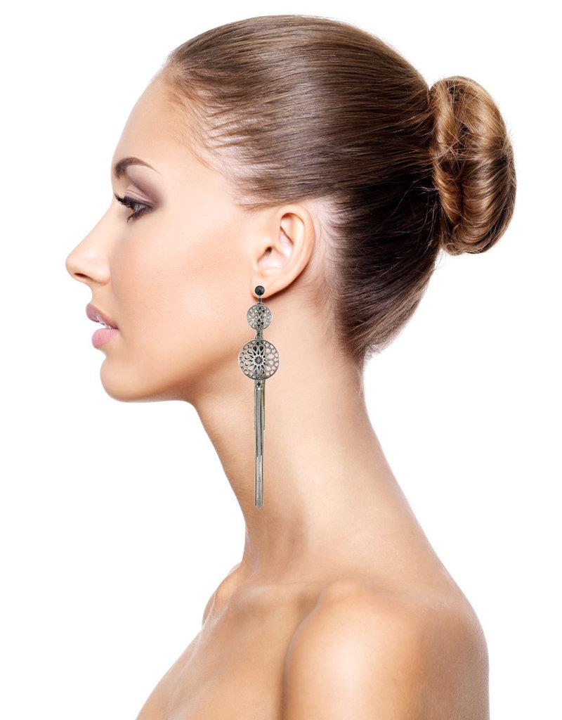 Konplott earring stud dangling Shades of Light black size S,XS