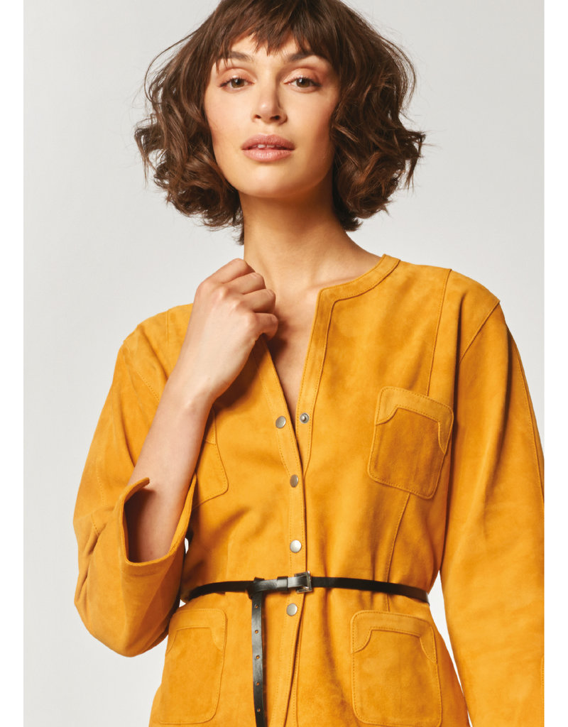 Studio Italy Jacket leather yellow