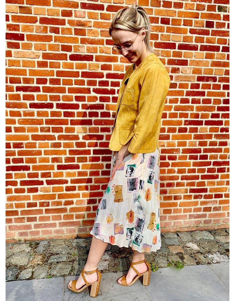 Studio Italy Skirt plissé with print