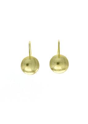 Replica Oorbellen stekers klein rond plaatje goud