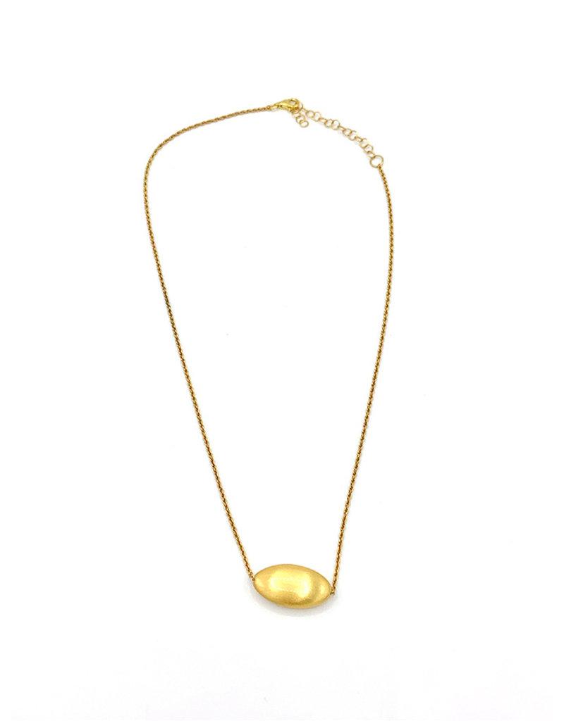 Halskettingen goud kort met bolletje