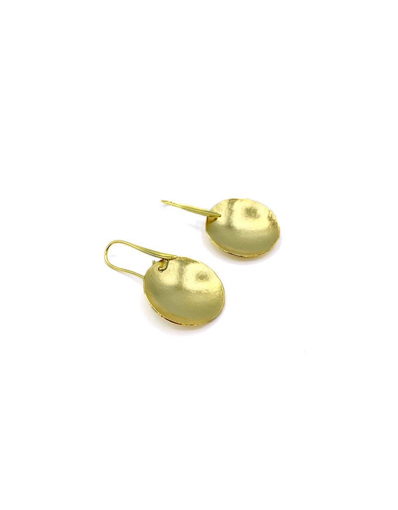 Replica Oorbellen stekers small  rond plaatje goud