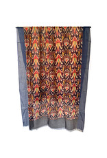 Scarf Sjaal met motief rood/zwart/blauw