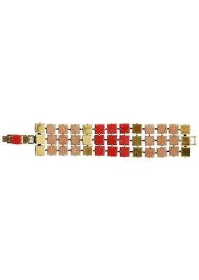 Konplott Bracelet cleo beige/red light antique brass