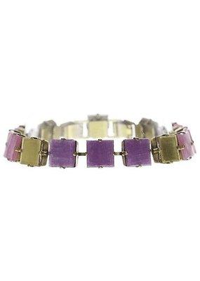 Konplott Bracelet cleo lila light antique brass
