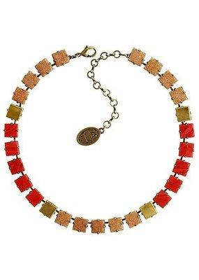 Konplott Necklace cleo beige/red light antique brass