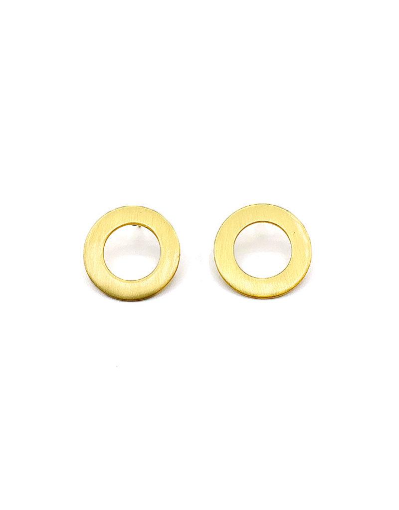 Oorbellen stekers open brede cirkel goud