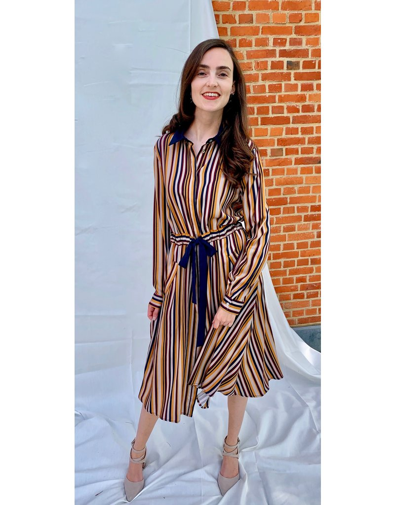 La Camicia Gestreepte jurk