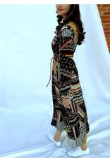 La Camicia Lange jurk met print