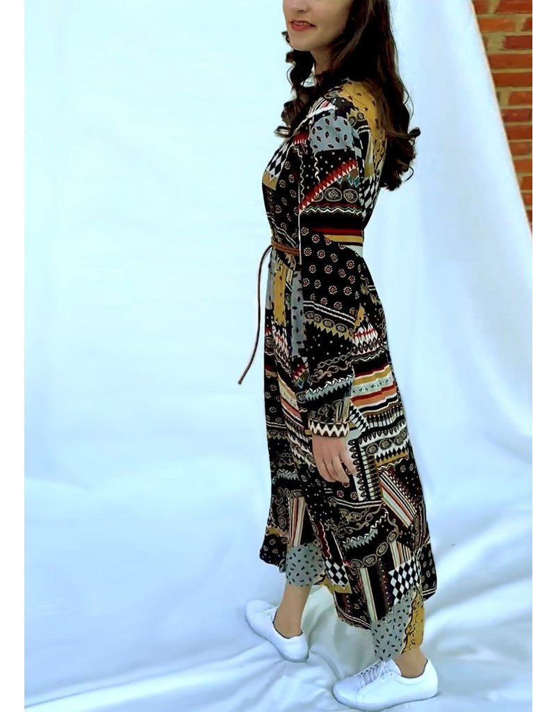 La Camicia Long dress with print